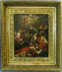 UP FOR AUCTION 1-31-16: AFTER JACOB VAN OOST FLEMISH OIL ON CANVAS