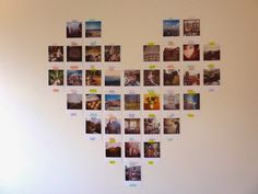 Trendy diy room decir for college pictures 66 Ideas Collage Foto, Photo Wall Collage, Picture Wall, Picture Collages, Heart Collage, Photo Polaroid, Polaroid Wall, Army Room Decor, Cute Room Decor