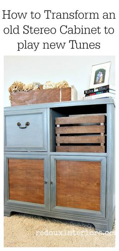 How to Makeover and Old Stereo Cabinet and get it to play your favorite Vinyl again.  REDOUXINTERIORS FB REDOUX IG REDOUXINTERIORS