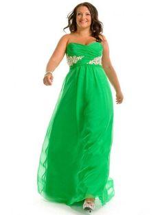 A-Line/Princess Sweetheart Sleeveless Beading Chiffon Floor-Length Dresses - Plus Size Formal Dresses - Formal Dresses