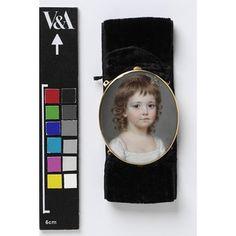 Portrait miniature - Portrait of Dorothea Capper, aged about 8