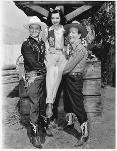 Gene Autry, Ann Miller, and Jimmy Durante