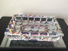 Bandeja de la cesta de papel cuadrados reciclado por OakHillCloset