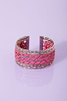Twisted Cuff with vegan leather wrap