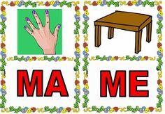 Cartas de sílabas para imprimir para niños