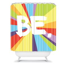 Kal Barteski BE Spectrum 1 Shower Curtain #bath #colorful #bathroom