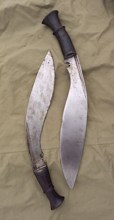 Antique Kukri Knives from Atlanta Cutlery - Traditional vintage tactical combat utility knife of the Gurkha soldier
