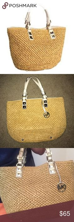 """⭐️ MK Santori Basket Tote Satchel ⭐️ $75 Trade Value ⭐️ Michael Kors Santorini Basket Straw Tote 