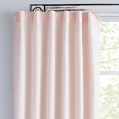 """96"""" Light Pink Fresh Linen Curtain 