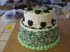 Cool chocolately mint ice cream cake