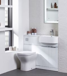 Tavistock Match Furniture Run Oregon Oak Right Hand Small Shower Room, Small Showers, Downstairs Cloakroom, Chrome Door Handles, Bathroom Installation, Tavistock, White Bathroom, Small Apartments, Home Renovation