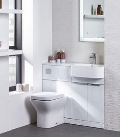 Tavistock Match Furniture Run Oregon Oak Right Hand Small Shower Room, Small Showers, Small Apartments, Small Spaces, Bathroom Installation, Tavistock, Chrome Handles, Home Renovation, Cloakroom Ideas