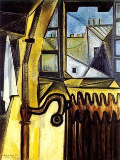 Pablo Picasso, 1943 Atelier de l'artiste, rue des Grands Augustins on ArtStack #pablo-picasso #art
