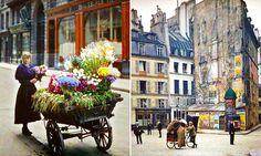 Fotos de Paris, há 100 anos atrás