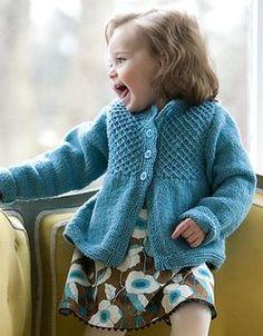 Adorable smocked cardigan - free pattern