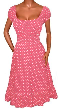 SOURPUSS VAVAVOOM TOP PNK/WHT POLKA DOTS Dress like the doll you ...
