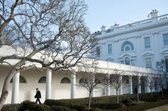 """The West Colonnade walkway, also referred to as the """"45-second commute"""" by insiders, is used by White House staff members to travel between the West Wing and the official residence."""