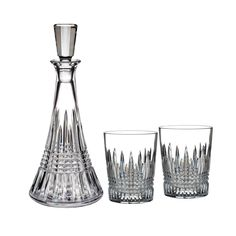 Waterford Crystal Lismore Diamond Decanter And Dof Tumbler Pair Set