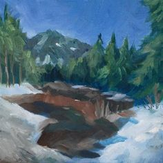 "Daily+Paintworks+-+""Melting+Snow""+-+Original+Fine+Art+for+Sale+-+©+J+M+Needham"