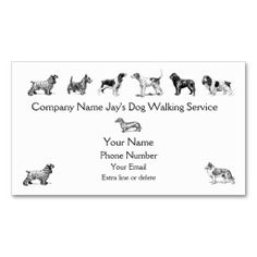 Dog Walker Groomer Pet Care Service Business Card. This is a fully customizable business card and available on several paper types for your needs. You can upload your own image or use the image as is. Just click this template to get started!