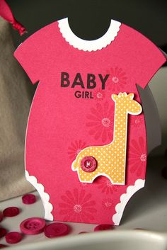 Cute onesie card with PTI June release die, by Erin Lincoln