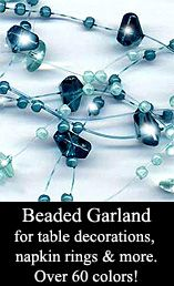 beaded garland table decorations