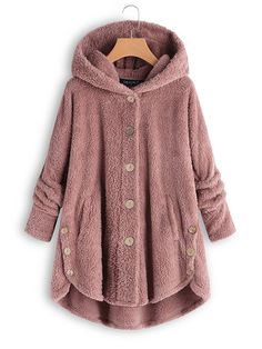 Shop a great selection of LEXUPA Fashion Women Button Coat Fluffy Tail Tops Hooded Pullover Loose Sweater. Find new offer and Similar products for LEXUPA Fashion Women Button Coat Fluffy Tail Tops Hooded Pullover Loose Sweater. Ärmelloser Mantel, Teddy Bear Coat, Coats For Women, Clothes For Women, Cheap Clothes, Types Of Sleeves, Latest Fashion Trends, Autumn Fashion, Fashion Coat