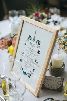 Un beau jour #menu #wedding