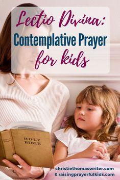 This is a great way to incorporate contemplative prayer for kids: using Lectio Divina for kids. Raising Godly Children, Prayers For Children, Raising Boys, Centering Prayer, Contemplative Prayer, Spiritual Disciplines, Spiritual Practices, Scripture Memorization, Learning To Pray