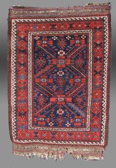 Baluch Rug, NE Persia, 19th C. www.tcoletribalrugs.com Prayer Rug, Tribal Rug, Textile Art, Bohemian Rug, Textiles, Rugs, Antiques, Design, Collection