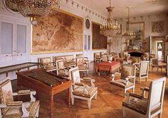 Map Room: Château de Compiègne. The Salon des Cartes dates from 1865 that has game tables.