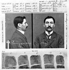 Vincenzo Peruggia, il ladro della Gioconda, photo by Alphonse Bertillon