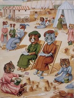 "Louis Wain ""Cats on the beach"""