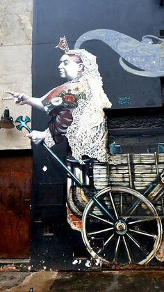 "Buenos Aires, Argentina - Street Art & Graffiti – ""Queen Victoria"", such an awesome piece of work!This is from the cool art district, Palermo Hollywood..  Although the street art and graffiti is not as abundant as say what I have seen in Brasil, it is still beautiful.  What is more unique to Buenos Aires is the number of stores with colored facades or street art decorated store fronts.  Original Photography by R. Stowe."