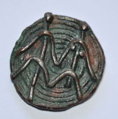 Amlash bronze ring with figurines 3, 1st millenium B.C. Private collection