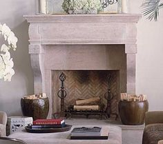 limestone / fireplace