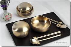 Korean Royal Court Cuisine Dinnerware Bangjja Yugi Masterpiece Couple Set