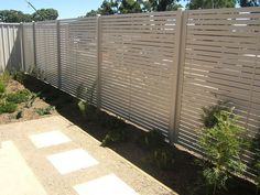 Domestic Slat Fencing - http://fencingbyobriens.com.au/domestic/slats?gclid=CJKCjIyfzrACFUdKpgodYyZhMw# -     Ideal for screening, alfresco dining areas, shading, pools or feature fencing. Slat fencing is a relatively new product in the market and has become increasingly popular due to its clean lines and architectural appearance. Contsructed from aluminium, it much lighter than steel it is pre-treated before being powder-coated making it resistant to corrosion. It is durable and low…