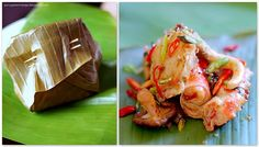 Sweet Chili-Rubbed Lemongrass-Steamed Alaska King Crab in Banana Leaves - Great Deals at www.AlaskaKingCrabs.com
