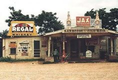 1940s gas station