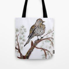 Sparrow Tote Bag by ticu
