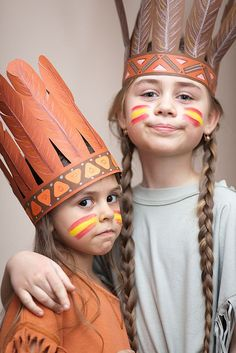 Halloween costume ideas for kids? You'll be judged for your kid's garb -- from sexy candy striper to simple witch outfit. Indian Theme, Red Indian, Indian Party, Dress Up Costumes, Diy Costumes, Halloween Costumes, Costume Ideas, Indian Face Paints, Carnaval Kids