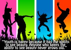 """Youth is happy because it has the ability to see beauty. Anyone who keeps the ability to see beauty never grows old."" #quotes #inspirationalquotes #inspiration #happiness #beauty #youth"