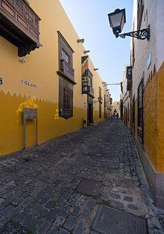 Calle Colón .Las Palmas de Gran Canaria, Spain