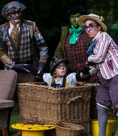 Badger, Toad, Ratty and Mole in The Wind In The Willows, 2013. #PYTwillows Image by www.RichardBudd.co.uk (C) 2013