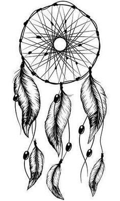 Native American Tattoo Designs And Meanings Atrapasueños Tattoo, Back Tattoo, Tattoo Drawings, Wolf Drawings, Tattoo Quotes, Dream Catcher Drawing, Dream Catcher Tattoo Design, Simple Dream Catcher Tattoo, Stencils Tatuagem