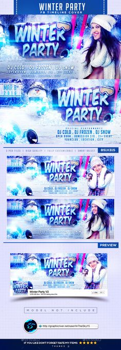Winter Party V2 FB Timeline Cover