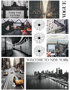 New York themed collage
