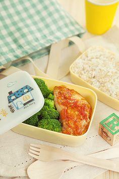 Lunch box setup for children's cookbook