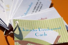 character development cards printables free - not many character traits, but good info on the ones that are included